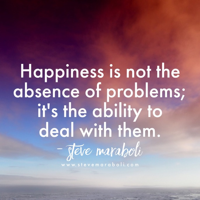 the only way we can experience true happiness is when it comes from us not outside of us, like expecting the conditions of life to be perfect before we can be happy. Happiness doesn't happen when life is perfect, it happens when we create it now.